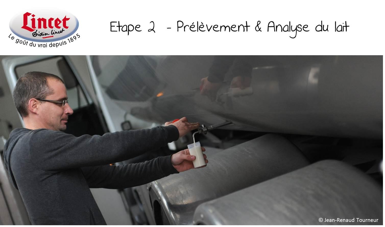 ETAPE 2 Prelevement et analyse du lait